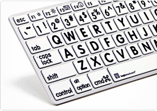 Logickeyboard Largeprint Apple keyboard